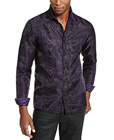 INC ONYX Men's Sheer Overlay Tiger Print Shirt, Created for Macy's