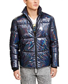 INC Men's ONYX Iridescent Puffer Jacket, Created For Macy's