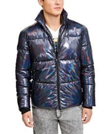 I.N.C. Men's ONYX Iridescent Puffer Jacket, Created For Macy's