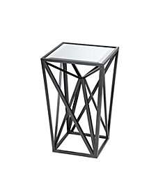 Zee Angular Mirror Accent Table, Quick Ship