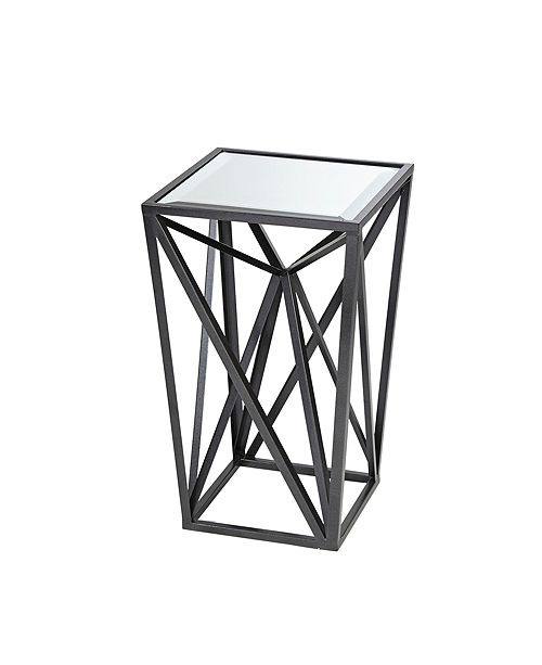 Furniture Zee Angular Mirror Accent Table