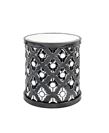 Arian Quatrefoil Mirror Accent Table, Quick Ship