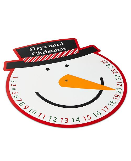 Elrene Snowman Countdown To Christmas Spinner Placemat