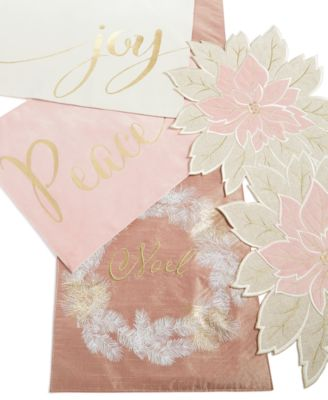 Blushing Poinsettia Cutwork Placemat
