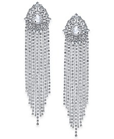 Silver-Tone Crystal Statement Earrings, Created For Macy's