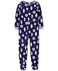 Carter's Little & Big Girls 1-Pc. Unicorn-Print Fleece Footed Pajamas