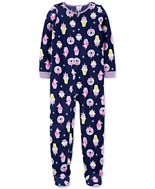 Carter's Little & Big Girls 1-Pc. Unicorn-Print Fleece Footed Pajamas