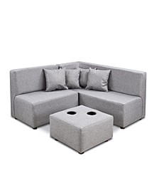 Kangaroo Trading Co. Kid's 7 Piece Sectional Set - Jitterbug Ash