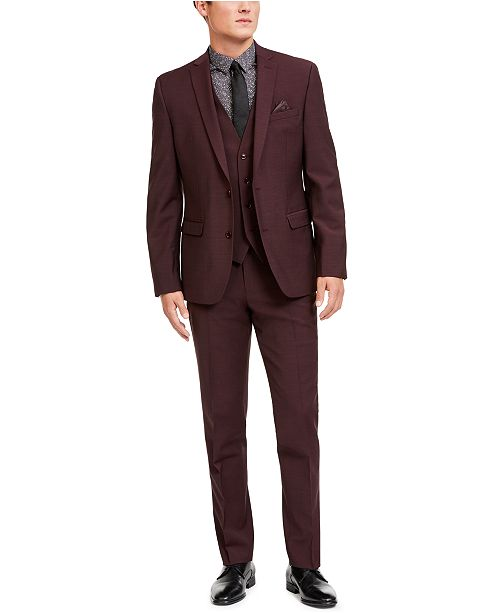 Bar III Men's Slim-Fit Active Stretch Solid Suit Separates, Created for Macy's