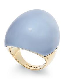 Gold-Tone Resin Statement Ring