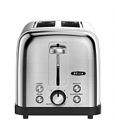 Bella Brushed Stainless Steel 2-Slice Toaster