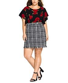 Trendy Plus Size Bouclé Skirt