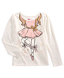 Epic Threads Toddler Girls Trompe L'Oeil Ballerina T-Shirt, Created for Macy's