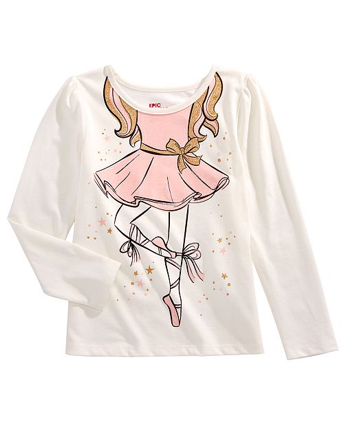 Epic Threads Little Girls Ballerina T-Shirt, Created for Macy's