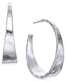 """Hammered Metal Medium Hoop Earrings 1-.5"""", Created for Macy's"""