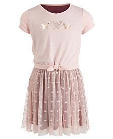 Epic Threads Little Girls Butterfly Tie-Front Dress, Created for Macy's