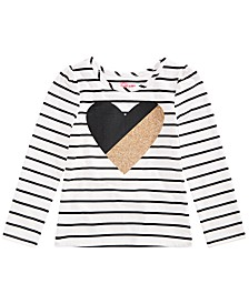 Toddler Girls Heart Striped T-Shirt, Created for Macy's