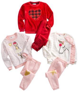 Toddler Girls 2-Pc. Unicorn Minky Sweatshirt Set, Created for Macy's