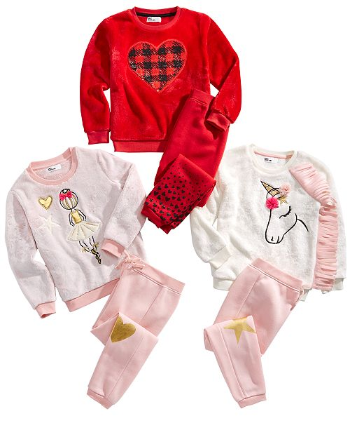 Epic Threads Little Girls Sweatshirts & Jogger Pants Sets, Created For Macy's