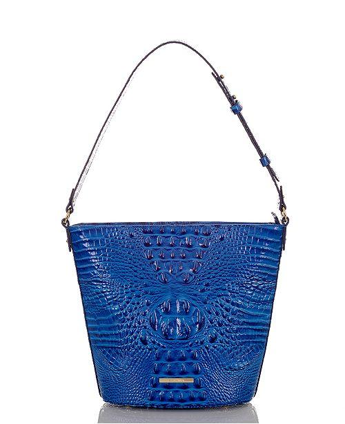Brahmin Quinn Melbourne Embossed Leather Shoulder Bag