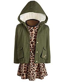Toddler Girls Hooded Jacket & Sweatshirt Dress, Created for Macy's