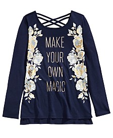 Epic Threads Big Girls Metallic Make Magic T-Shirt, Created For Macy's