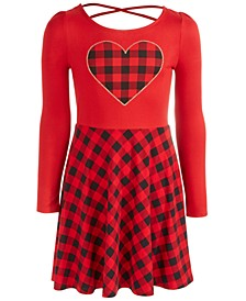 Big Girls Heart Plaid Dress, Created For Macy's