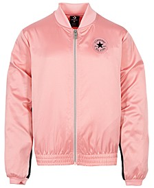 Big Girls Satin Track Jacket
