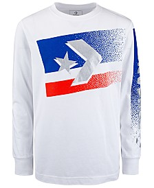 Converse Big Boys Bitmap Star Chevron Logo T-Shirt