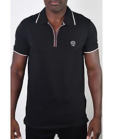 Members Only Men's Basic Short Sleeve Stripe Polo