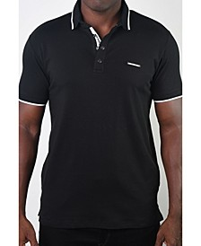 Men's Basic Short Sleeve Snap Button Polo