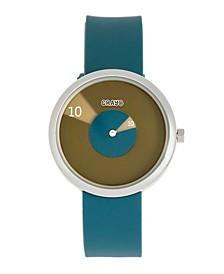 Unisex Pinwheel Cerulean Silicone Strap Watch 38mm
