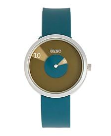 Crayo Unisex Pinwheel Cerulean Silicone Strap Watch 38mm