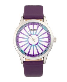 Crayo Unisex Electric Purple Leatherette Strap Watch 41mm