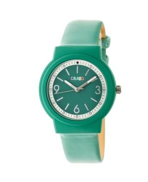 Unisex Vivid Green Leatherette Strap Watch 36mm