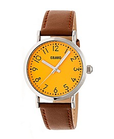 Unisex Pride Camel Genuine Leather Strap Watch 36mm