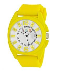 Crayo Unisex Sunset Yellow Silicone Strap Watch 40mm