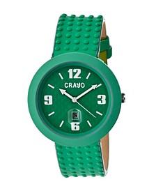 Unisex Jazz Teal Genuine Leather Strap Watch 40mm