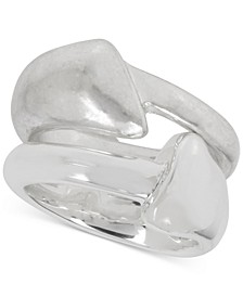 Silver-Tone 2-Pc. Set Sculptural Stack Rings