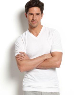 men's tagless slim-fit v-neck Undershirt 3-pack