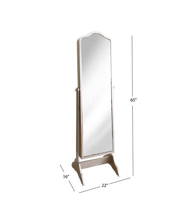 Abbyson Living Adeline Floor-Standing Mirror And Jewelry ...