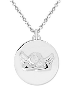 "Guardian Angel 18"" Pendant Necklace in Fine Silver-Plate"
