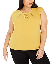 Plus Size Keyhole Sleeveless Top