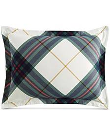 CLOSEOUT! Winter Plaid Flannel Standard Sham, Created for Macy's
