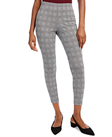 Maison Jules Plaid Pull-On Slim Fit Pants, Created for Macy's