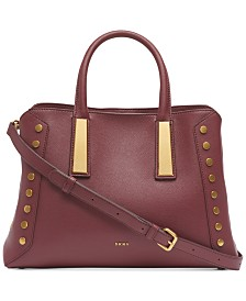 DKNY Ewen Pebble Leather Satchel, Created for Macy's