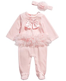 Baby Girls Ft Ballerina Coverall, Created for Macy's