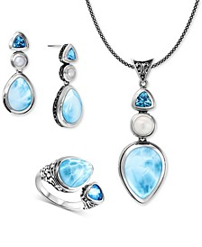 Larimar & Blue Topaz Azure Jewelry Collection in Sterling Silver