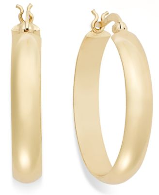 18k Gold over Sterling Silver Large Hoops, 1-3/4""