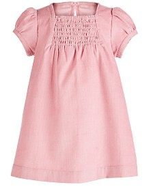 First Impressions Baby Girls Cotton Smocked Corduroy A-Line Dress, Created for Macy's